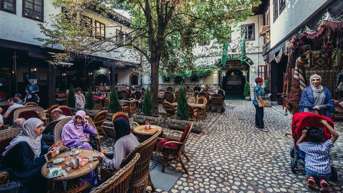 Sarajewo, orientalna dzielnica Bascarsija