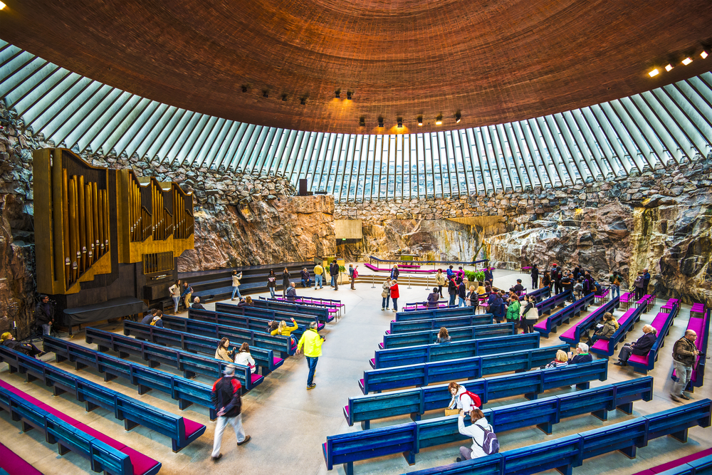 Kościół Temppeliaukio w Helsinkach